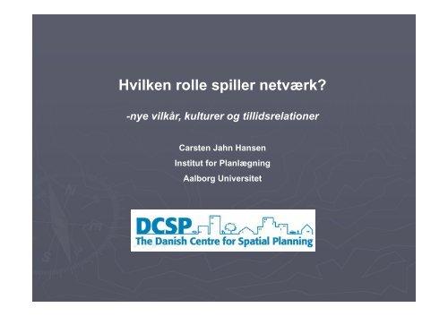 Hvilken rolle spiller netværk? - Aalborg Kommune