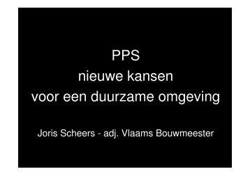 PPS nieuwe kansen voor een duurzame omgeving - VVSG