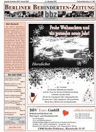 BBV Tours GmbH - Berliner Behindertenzeitung