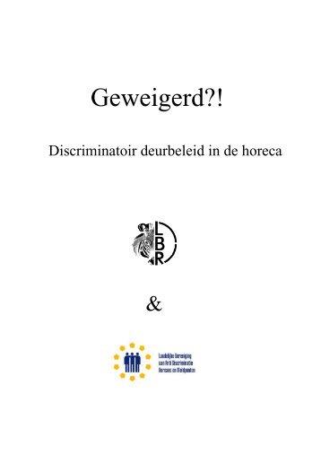 Geweigerd?! - Discriminatoir deurbeleid in de horeca - VVSG