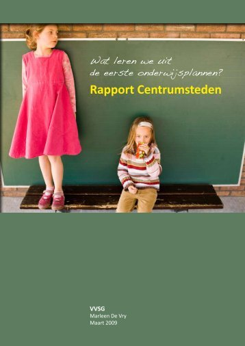 Rapport Centrumsteden - VVSG