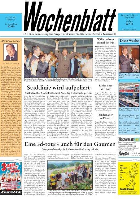 06. Juli 2005 Singener Wochenblatt