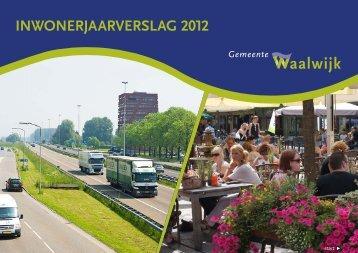 Inwonerjaarverslag 2012 - Gemeente Waalwijk