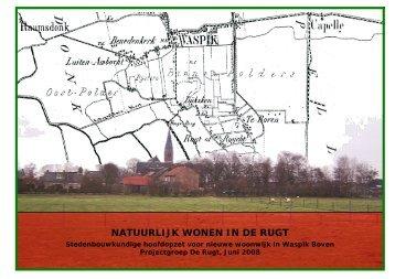 Rapport Natuurlijk wonen in De Rugt - Gemeente Waalwijk