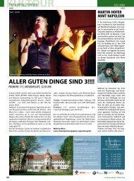 Kultour (1324 kb) - Regensburger Stadtzeitung