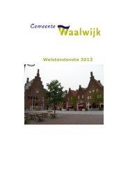 Welstandsnota 2012 - Gemeente Waalwijk