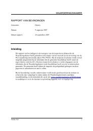 managementsamenvatting inspectie 9-8-2007 - Waarderingskamer