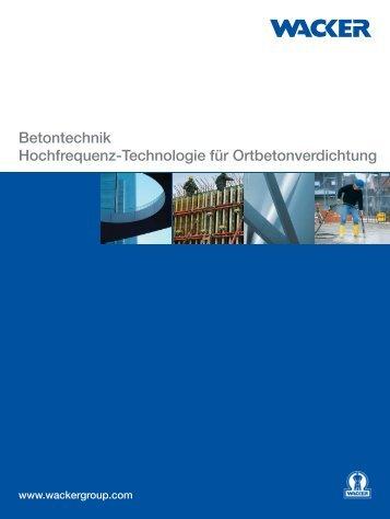 Betontechnik Hochfrequenz-Technologie für Ortbetonverdichtung