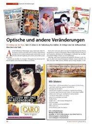 Optische und andere Veränderungen - Regensburger Stadtzeitung