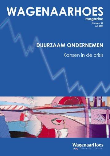 Duurzaam ondernemen: kansen in de crisis - WagenaarHoes