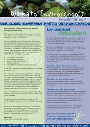 enviroschools newsletter no.7.indd - Waikato Regional Council