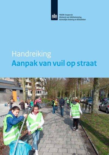 Handreiking Aanpak van vuil op straat - Inspectie Leefomgeving en ...