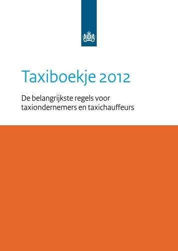 Taxiboekje 2012 - Inspectie Leefomgeving en Transport