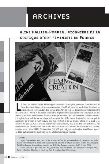 [PDF] 404.3 KB - Archives de la critique d'art