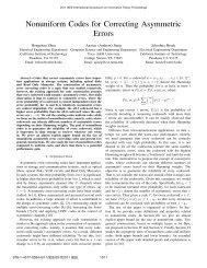 Nonuniform Codes for Correcting Asymmetric Errors - TAMU ...