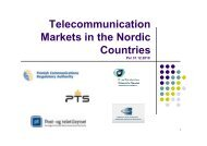 Telecommunication Markets in the Nordic Countries 2010
