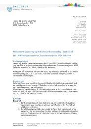 Tranemosevej 66a, Tilladelse til etablering og drift af et ...