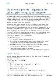 projekt Tidlig indsats for børn af psykisk syge - Ballerup Kommune