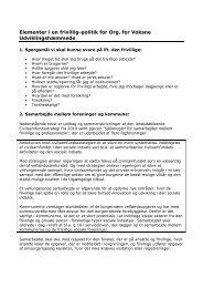 Elementer i en frivillig-politik for Org. for Voksne Udviklingshæmmede