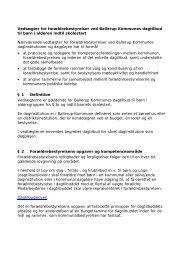 Vedtægter for forældrebestyrelser - Ballerup Kommune