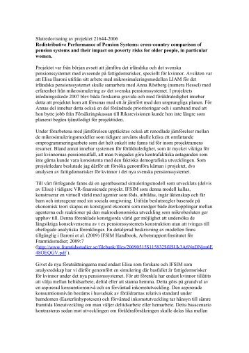 Slutredovisning av projektet (pdf 16 kB, öppnar nytt fönster)