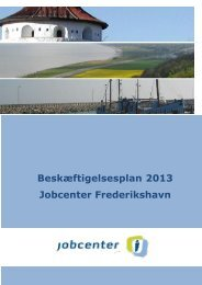 Beskæftigelsesplan 2013 - Frederikshavn Kommune