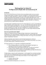 retningslinjerne for tilskud til frivilligt socialt arbejde - Frederikshavn ...