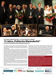 """15 Jahre """"Politische Maiandacht!"""" - Regensburger Stadtzeitung"""