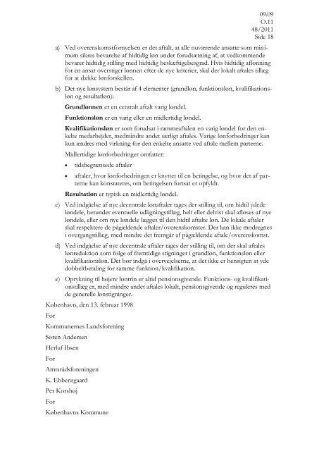 Aftale om lokal løndannelse for chefer - HK