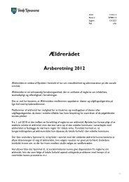 Ældrerådet Årsberetning 2012 - Danske Ældreråd