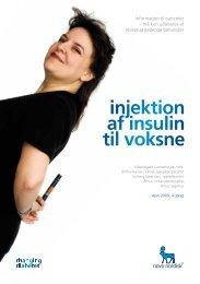 injektion af insulin til voksne
