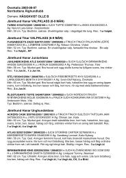 Utställningsresultat Överkalix 2 2005