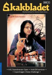 K41 Scandinavian Open • Hold-EM seniorer • • Copenhagen Chess ...