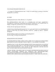 FÆLLESKAB FREMMER FORSTÅELSE --- En rapport fra ...
