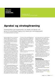 [pdf] apraksi og strategitræning - Ergoterapeutforeningen