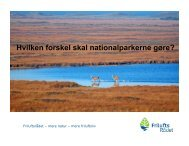Hvilken forskel skal nationalparkerne gøre? - Friluftsrådet
