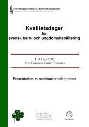 Seminarier 2006 - Föreningen Sveriges Habiliteringschefer
