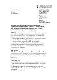 Anmälan mot Göteborgs universitet angående ... - Högskoleverket