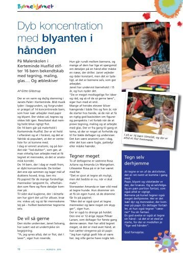 Dyb koncentration med blyanten i hånden