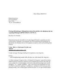 Förslag till ändringar i Rikspolisstyrelsens föreskrifter och allmänna ...