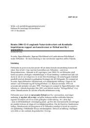 Remiss 2006-12-11 angående Naturvårdsverkets och Kemikalie ...