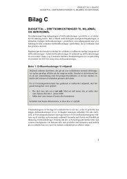 Bilag C - Driftsomkostninger til miljømål og servicemål