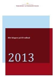 Bliv klogere på EU-udbud (2013 - Konkurrence