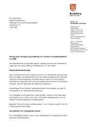 Høringssvar til Region Syddanmark om grundaftaler - Kolding ...