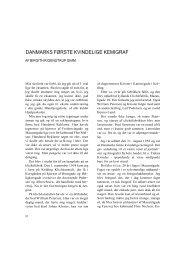2005-11, Danmarks første kvindelige kemigraf