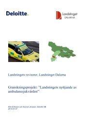 Granskningsrapport - Landstinget Dalarna