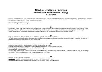 Nordisk Urologisk Förening - Scandinavian Association of Urology