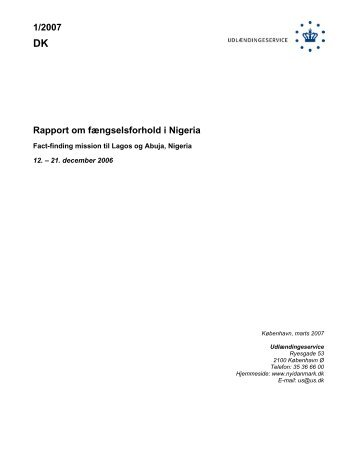 1/2007 Rapport om fængselsforhold i Nigeria - Ny i Danmark