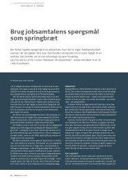 Brug jobsamtalens spørgsmål som springbræt - Pharmadanmark