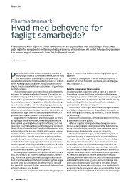 Læs artikel (pdf) - Pharmadanmark
